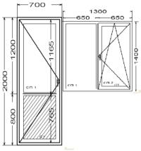 Балконный блок в квартиру с поворотно-откидным окном