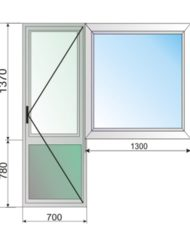 Балконный блок в квартиру с глухим окном