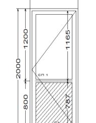 Межкомнатная дверь ПВХ, порог AL, нажимная гарнитура