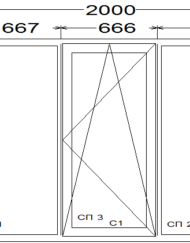 Окно в квартиру поворотно-откидное (зал)