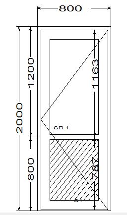 Входная дверь ПВХ, порог AL, замок, ручка дуга